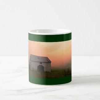 Foggy Sunrise Barn Mug