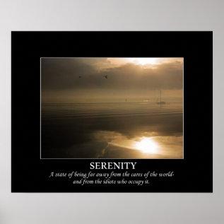 Foggy Sunrise Serenity De-motivating Poster at Zazzle