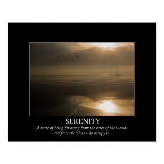 Foggy Sunrise Serenity De-motivating Poster