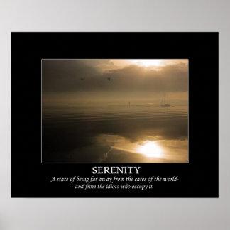 Foggy Sunrise Serenity De-motivating Poster
