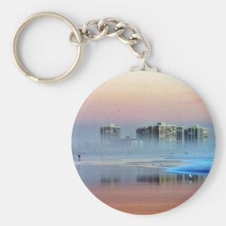 Foggy Sunset In Coronado Basic Round Button Keychain