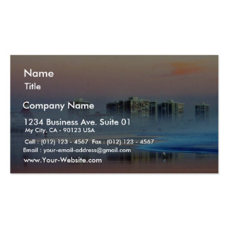 Foggy Sunset In Coronado Business Card Templates
