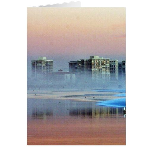 Foggy Sunset In Coronado Cards