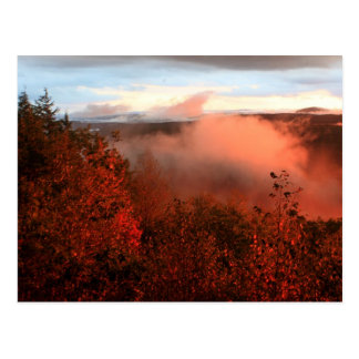 Foggy Sunset over Tully River Valley Postcard