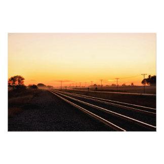 Foggy Sunset Photo Art