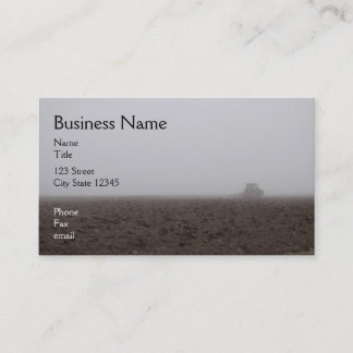 Foggy tractor business card