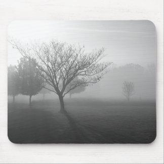 Foggy Tree in Black & White Mousepad