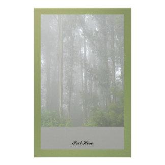 Foggy Trees Customized Stationery