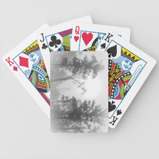 Foggy Treescape Bicycle Playing Cards