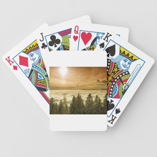 Foggy valley bicycle card deck