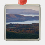 Foggy valleys and fall foliage in Ozark Metal Ornament
