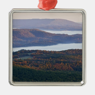 Foggy valleys and fall foliage in Ozark Christmas Ornaments