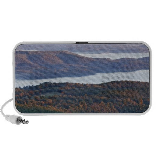 Foggy valleys and fall foliage in Ozark Portable Speaker