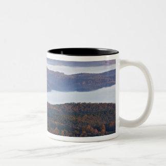 Foggy valleys and fall foliage in Ozark Two-Tone Coffee Mug