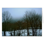 Foggy Vermont Winter Greeting Card