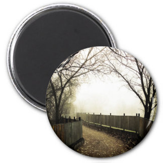 Foggy Waterfront 01 2 Inch Round Magnet