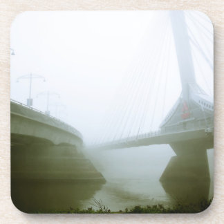 Foggy Waterfront Trail 02 Cork Coaster