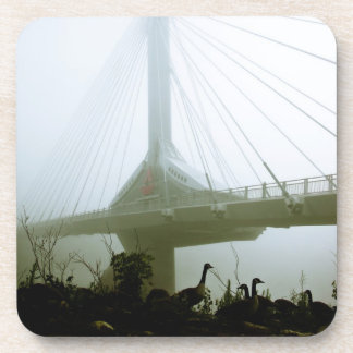 Foggy Waterfront Trail 10 Cork Coaster