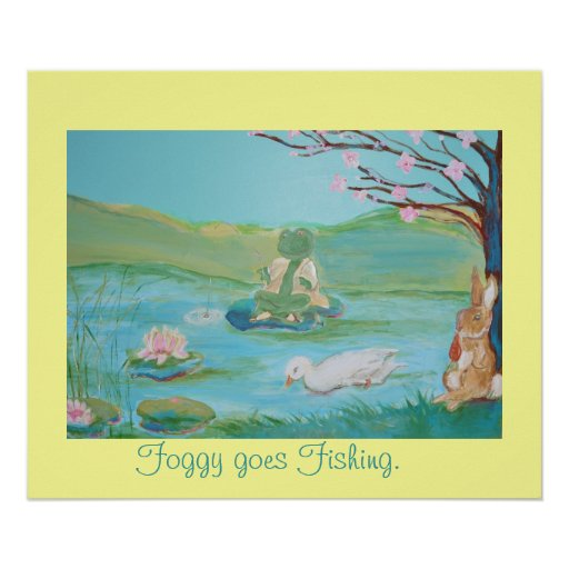 Foggy went Fishing Poster