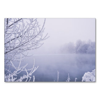 Foggy Winter Day by the River Card