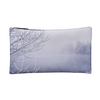 Foggy Winter Day by the River Cosmetic Bag