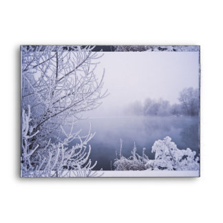 Foggy Winter Day by the River Envelope