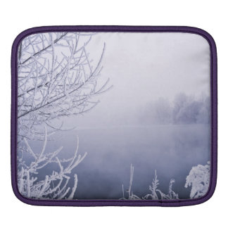 Foggy Winter Day by the River iPad Sleeve