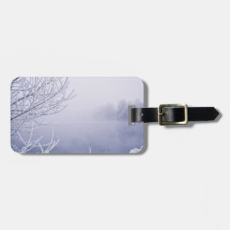 Foggy Winter Day by the River Luggage Tag