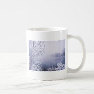 Foggy Winter Day by the River Coffee Mug