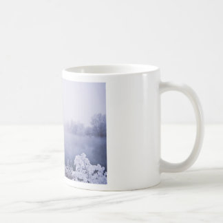 Foggy Winter Day by the River Mugs
