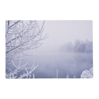Foggy Winter Day by the River Placemat