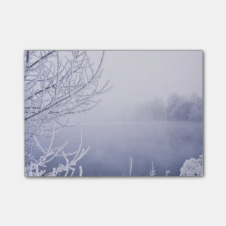 Foggy Winter Day by the River Post-it Notes