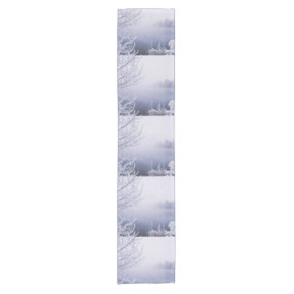 Foggy Winter Day by the River Short Table Runner