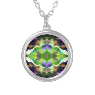 FoggyPurpleDream Round Pendant Necklace