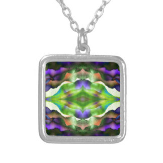 FoggyPurpleDream Square Pendant Necklace