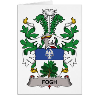 Fogh Family Crest Greeting Card