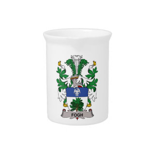 Fogh Family Crest Drink Pitchers