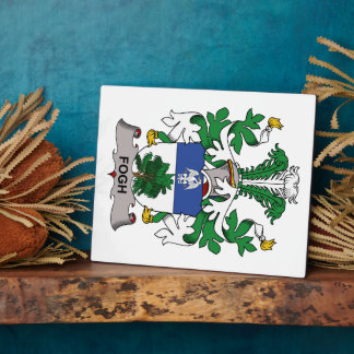 Fogh Family Crest Photo Plaques