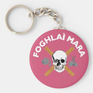 Foghlai Mara Keychain, Pink Basic Round Button Keychain