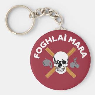 Foghlai Mara Keychain, Red Basic Round Button Keychain
