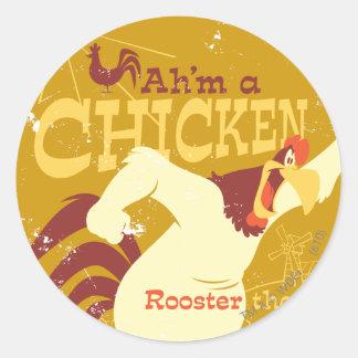 Foghorn Ah'm a chicken Classic Round Sticker