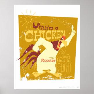 Foghorn Ah'm a chicken Poster