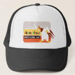 """Foghorn That&#39;s A Joke, Son Trucker Hat<br><div class=""""desc"""">Design part of a series from the Retro Collection</div>"""