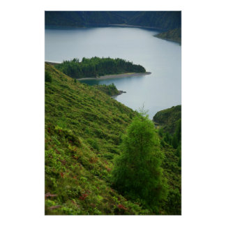 Fogo crater, Azores Poster