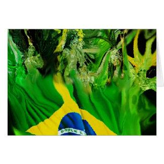 Fogo de Brasil Greeting Card