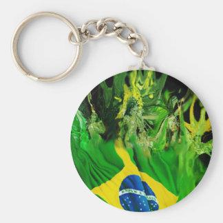 Fogo de Brasil Basic Round Button Keychain