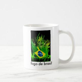 Fogo de Brasil Classic White Coffee Mug