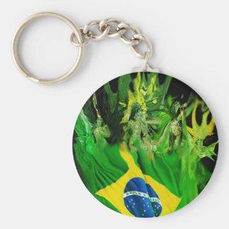 Fogo del Brasil Llavero Redondo Tipo Pin