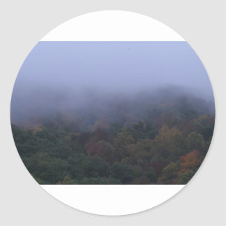 fogy morning classic round sticker