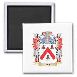Foi Coat of Arms - Family Crest 2 Inch Square Magnet